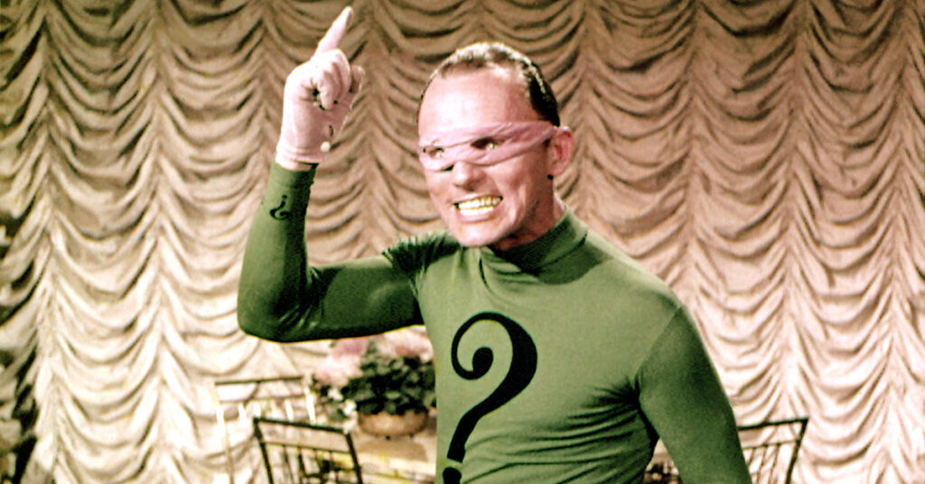BATMAN, Frank Gorshin, 1966. TM and Copyright ©20th Century Fox Film Corp. All rights reserved, Courtesy: Everett Collection