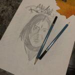 Daily Doodle #17 Alan Rickman