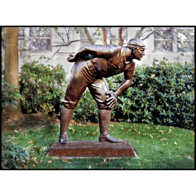 photo of bronze sculpture of Cy Young