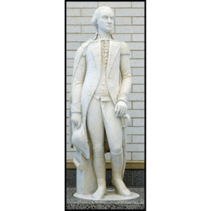 photo of white sculpted figure of George Washington