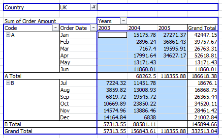 Select Pivot Table Data Body Range Without Subtotals