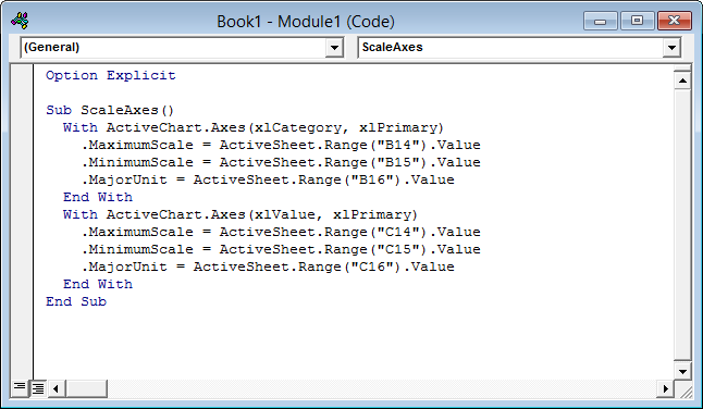 Code module with sample code