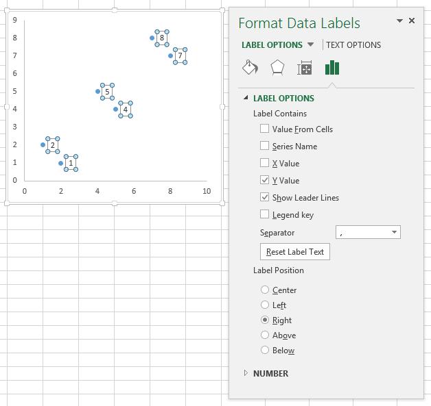Format Data Labels Task Pane
