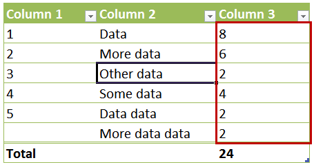 Referencing Table Column Excluding Header and Total Rows