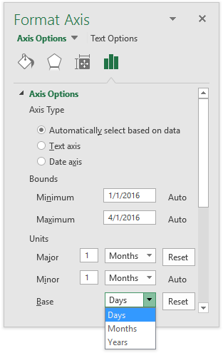 Date Axis Formatting: Base Units