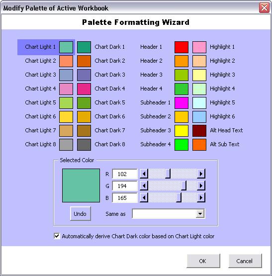 Custom PaletteWizard