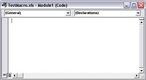 Code Module Window
