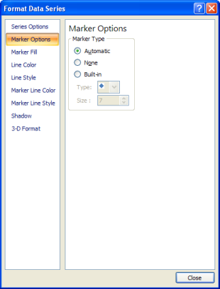 Excel 2007 Format Series Dialog