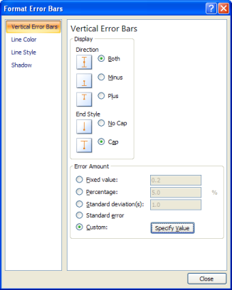 Excel 2007 Format Axis Dialog