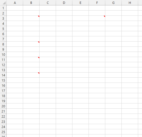 Comments not showing in Excel 2013
