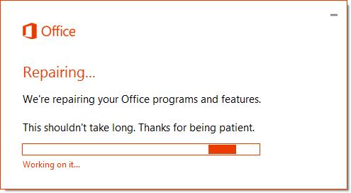 Excel Error Message - Repair