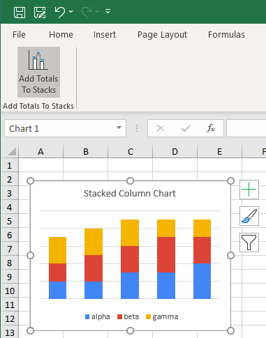 Custom Ribbon Button for Stacked Chart Labeler
