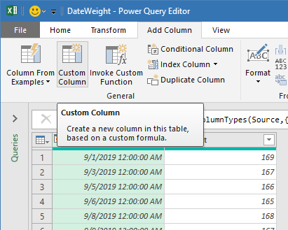 Power Query - Add Custom Column