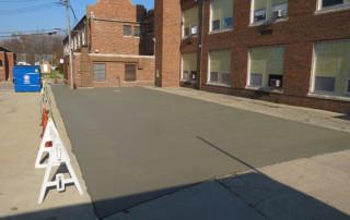 New Concrete Parking Lot
