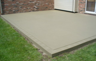 New Home Cement Patio