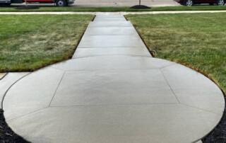 Cement Walkway