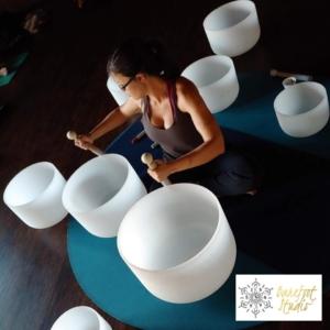 Barefoot Studio 12 Tone Crystal Bowl Sound Bath Event