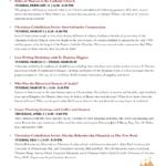 Spring Program Schedule