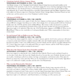 Fall 2020 Program Schedule