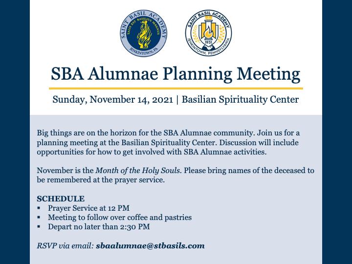 SBA Alumnae Planning Meeting