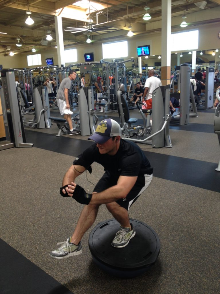 Meet Klint! Anyone who does pistol squats on a BOSU is hardworking and loves a  challenge! Man in Charge!