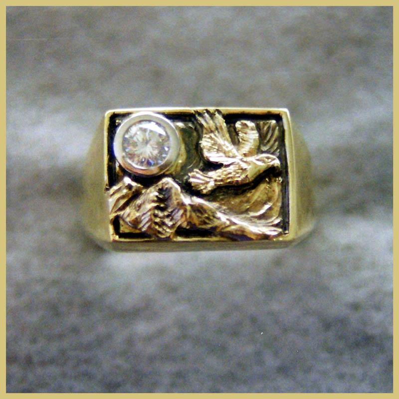 Eagle Diamond Ring