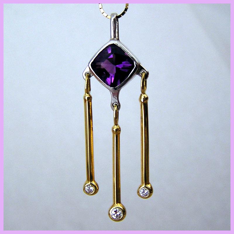 Platinum 18k Amethyst necklace