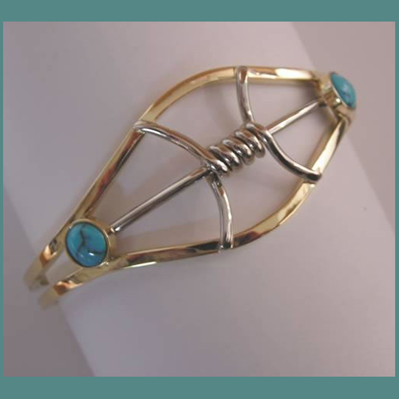 Spiderweb Turquoise Bracelet