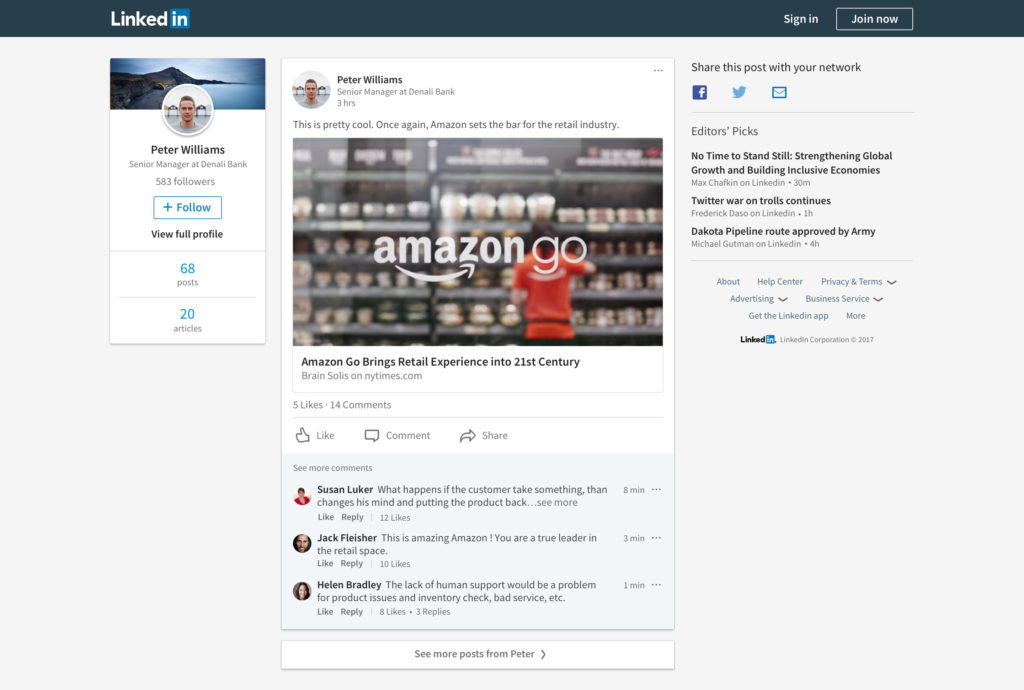 Linkedin New Features - Share Content Off Linkedin