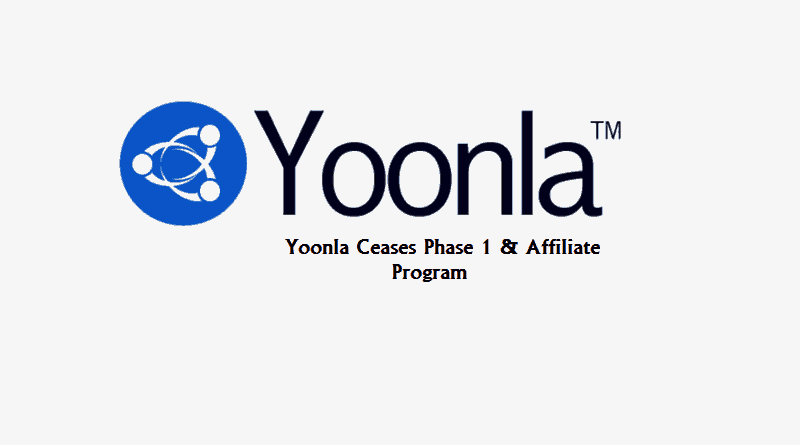 Yoonla Update - Yoonla Ceases Phase 1 and Affiliate Program