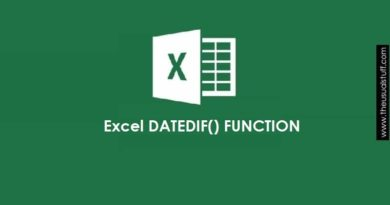 Excel Date Difference Using DATEDIF() Function