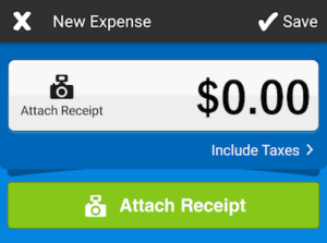 Android FreshBooks Expense Attach Receipt