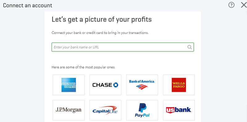QuickBooks Online Connect an Account