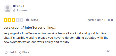 InterServer - Mixed User Reviews - 1