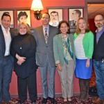 Drama Desk Panel 2013 at Sardis (L to R) Bertie Carvel, Jane Houdyshell, Ronald Rand, Isa Goldberg, Kristine Nielsen and David Hyde Pierce