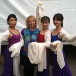 Red Silk Dancers with Dr. Sue - Dance Parade