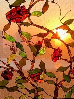 Stained Glass Roses by Dennis Lynch
