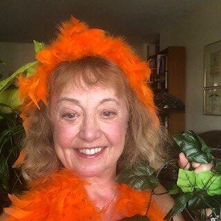 Dr. Sue Orange Boa Trump Cabaret Comedy