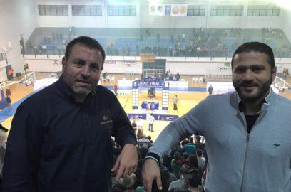 أمين عام اتحاد السلة المحامي شربل ميشال رزق حضر نهائي كأس قبرص