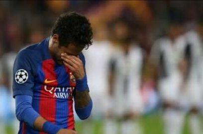 نيمار ينفجر بالبكاء بعد الخروج الأوروبي