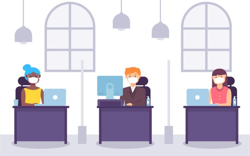 https://www.freepik.com/free-vector/new-normal-office-concept_8724324.htm#page=1&query=work&position=6