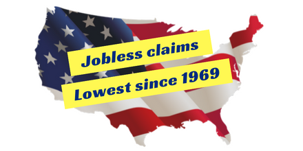 U.S. Jobless Claims at Lowest Rate Since 1969