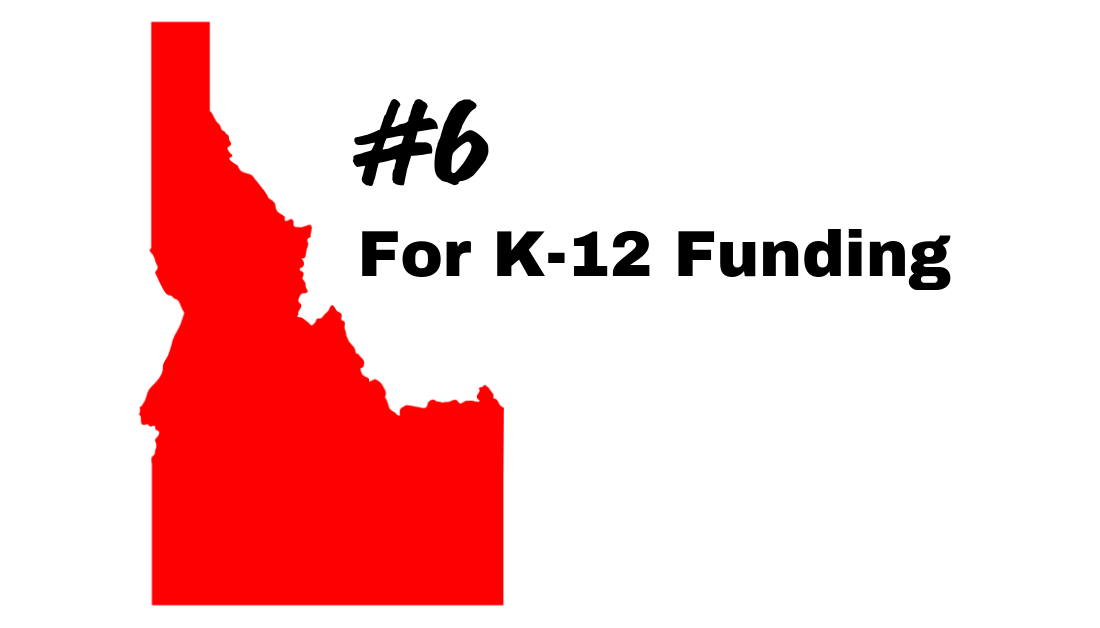 Idaho Sixth in the Nation for K-12 Budget Funding