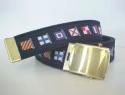 Reversible Navy Code Flag Web Belt & brass buckle