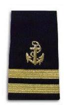Rear Commodore anchor stripes
