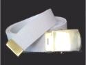 Regular White Web Belt & brass buckle
