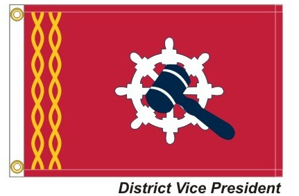HD - District Vice President - 2 Gold Wavy