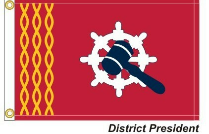 HD - District President - 3 Gold Wavy