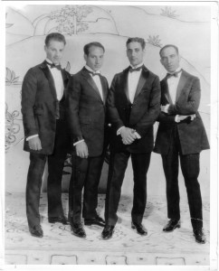 The Four Marx Brothers in 1923 (from left: Zeppo, Harpo, Groucho and Chico). (Photo by Robert Bader)