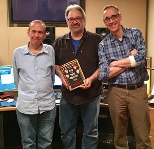 Gilbert Gottfried, the author, and Frank Santopadre at the recording of Gilbert Gottfried's Amazing Colossal Podcast!